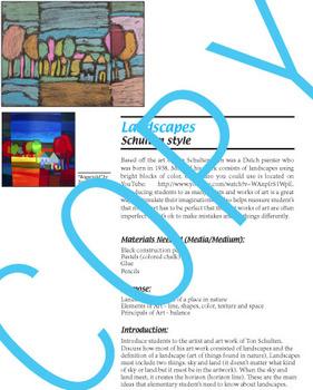 Art Lesson - Landscapes Ton Schulten (elementary art) common core content