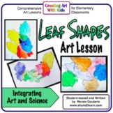 Art Lesson Leaf Shapes Trace and Paint