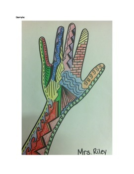 Art Lesson- Line Hand (lesson 3)- First Grade