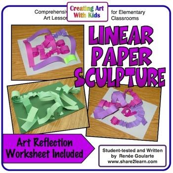 Art Lesson Linear Paper Sculpture