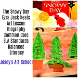 Art Lesson Literacy Circle Ezra Jack Keats The Snowy Day Pre-K to 3rd Grade