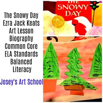 Art Lesson Literacy Circle Ezra Jack Keats The Snowy Day Pre-K to 3rd Grade