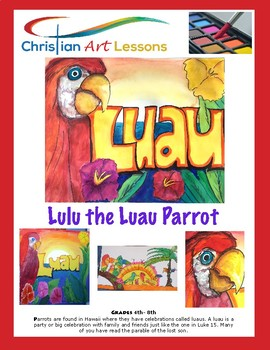 Art Lesson: Lulu the Luau Parrot