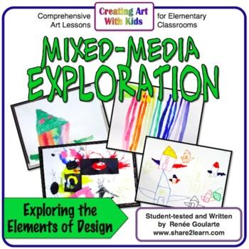 Art Lesson Mixed Media Exploration