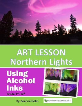 Art Lesson: Northern Lights Using Alcohol Inks