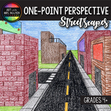 Art Lesson: One-Point Perspective Cityscape Streetscapes