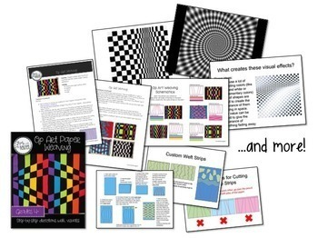 Art Lesson: Op Art Paper Weavings