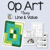 Art Lesson: Op Art Using Line & Value
