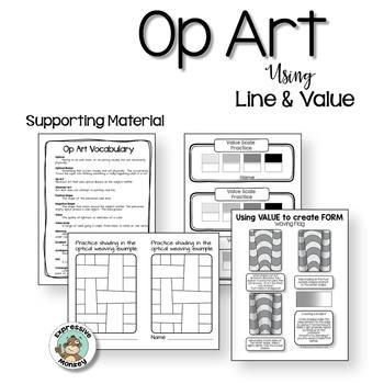 Art Lesson: Op Art Using Line & Value
