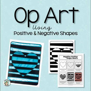 Art Lesson: Op Art Using Positive & Negative Shapes