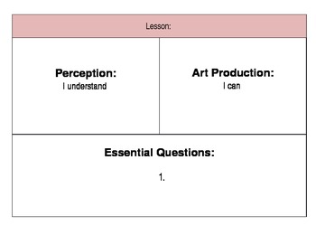 Art Lesson Overview Template