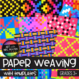 Art Lesson: Paper Weaving (with Templates)