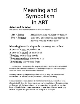 Art Lesson Papers based on Texture & Form (3 different projects)