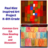 Art Lesson Paul Klee Word Painting Grade K 6th Grade Art History Drawing