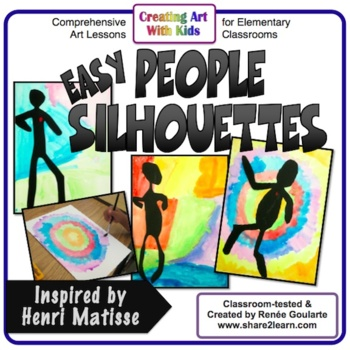 Art Lesson - People Silhouettes Inspired by Henri Matisse