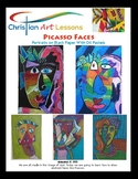 Art Lesson: Picasso Faces - Portraits on Black Paper With