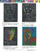Art Lesson: Picasso Faces - Portraits on Black Paper With Oil Pastels