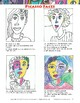 Art Lesson: Picasso Faces - Portraits on White Paper With Oil Pastels