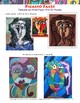 Art Lesson: Picasso Faces - Portraits on White Paper With
