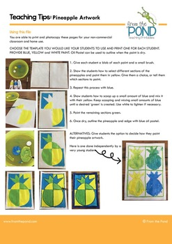 Art Lesson - Pineapple Color Mixing