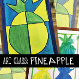 Pineapple Art Project - Color Mixing