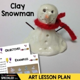 Art Lesson Plan. Elementary Art. Melted Snowman. Clay Pinchpot