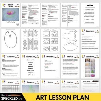 Art Lesson Plan. Elementary Art. Impressionism Small Small Pond
