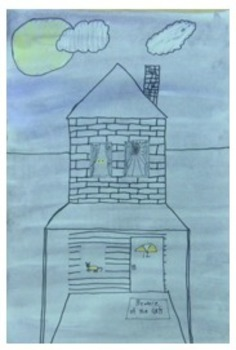 Elementary Art Lesson Plan. One Point Perspective Painting. Fall theme.