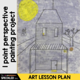 Elementary Art Lesson Plan. One Point Perspective Painting