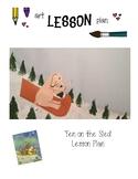 Art Lesson Plan. Elementary Art. Ten on the Sled.