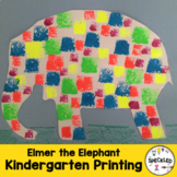 Art Lesson Plan. Elementary - Elmer the Elephant - Stamping & Printmaking