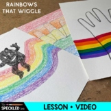 Art Lesson Plan. Elementary - Rainbows that Wiggle. Two lessons in one.