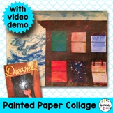 Art Lesson Plan. Elementary - Painted Collage Ezra Jack Keats Dreams