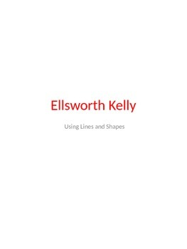 Art Lesson Plan: Exploring Shapes and Colors with Ellsworth Kelly