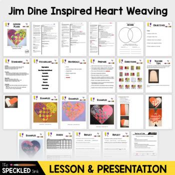 Art Lesson Plan. Expressive Heart Weavings. 3 Plans & Presentation.