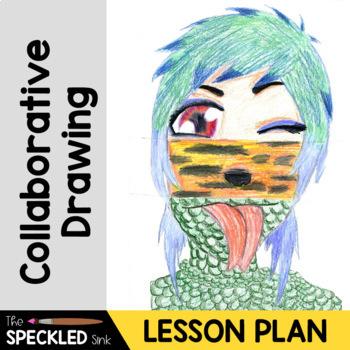 Art Lesson Plan Exquisite Corpse. 3rd-9th Grade Art Class. Halloween.