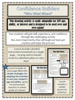 Art Lesson Plan. Flexible drawing activity adaptable for all ages and abilities.