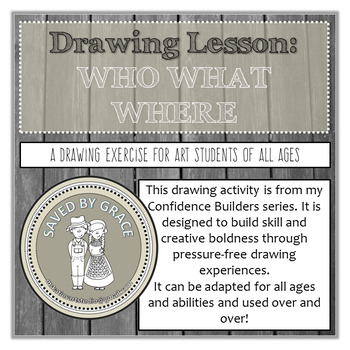 Art Lesson Plan. Flexible drawing activity adaptable for a