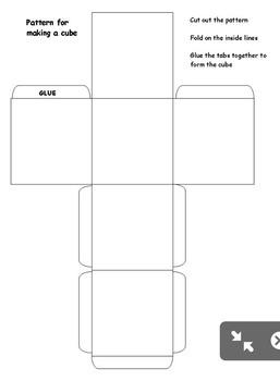 Middle School Art Lesson Plan. Op Art Cubes. Bundled Unit