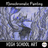 High School Art Lesson Plan. Monochromatic Watercolor Pencil Unit