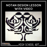Art Lesson Plan. Notan Square for High School Art. Lesson