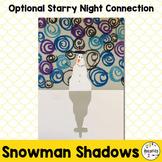Art Lesson Plan. Snowmen at Night. Starry Starry Night Art Project. Winter Art