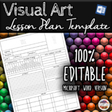 Visual Art Unit/Lesson Plan Template (Microsoft Word)