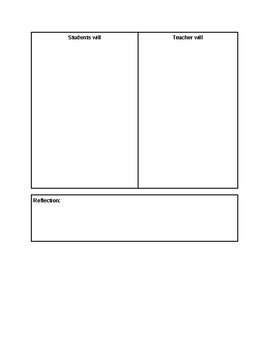 Art Lesson Plan Template with NYS Visual Arts Standards and Elements of Art