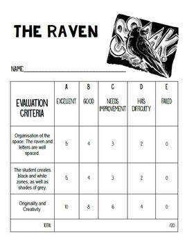 Art Lesson Plan : The Raven - Autumn and Halloween