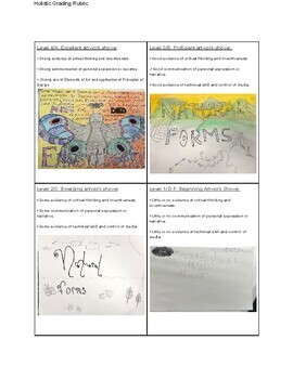 Art Lesson Plans Unit on Natural Forms for a Quarter of the School Year