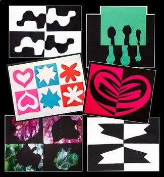 Art Lesson Positive Negative Shape Design