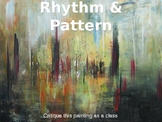 Art Lesson Powerpoint based on Rhythm & Pattern (2 different projects)