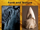 Art Lesson Powerpoint based on Texture & Form (3 different projects)
