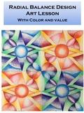 Art Lesson Printable: Radial Balance Design Project